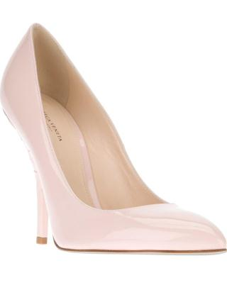 BOTTEGA VENETA pointed toe pump in pale pink gloss