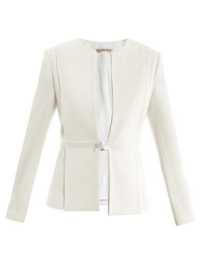 Elegant white blazer jacket