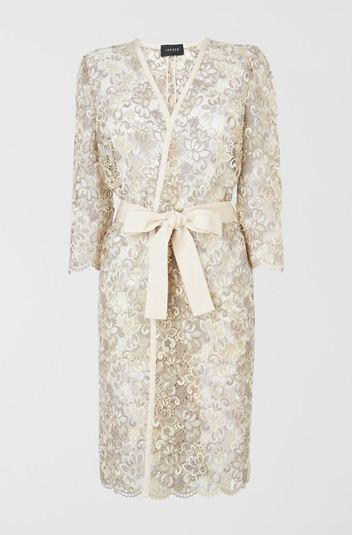Jaeger ivory cream lace coat