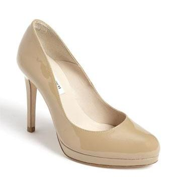 L.K. Bennett Sledge pump in taupe