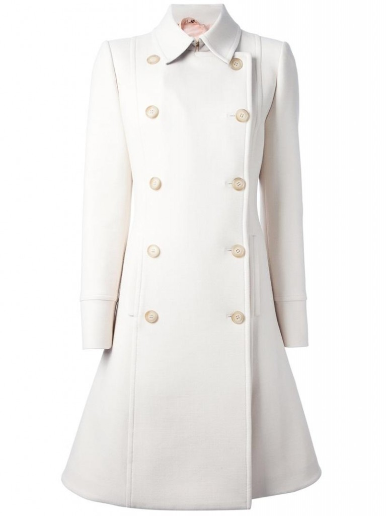 No 21 ivory flared hem trench coat