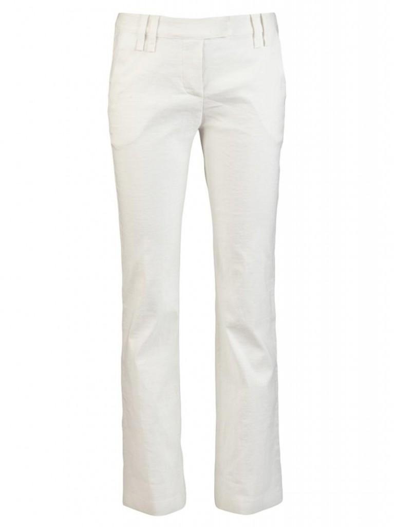 Elegant white trousers