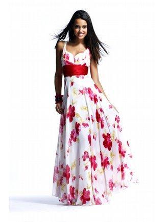Bluegala spring floral A-line prom dress
