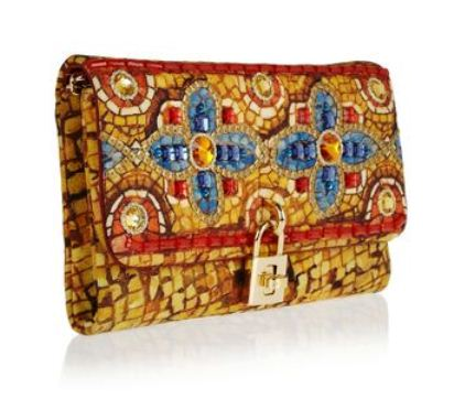 81fb681a75 DOLCE   GABBANA Dolce gold embellished brocade clutch