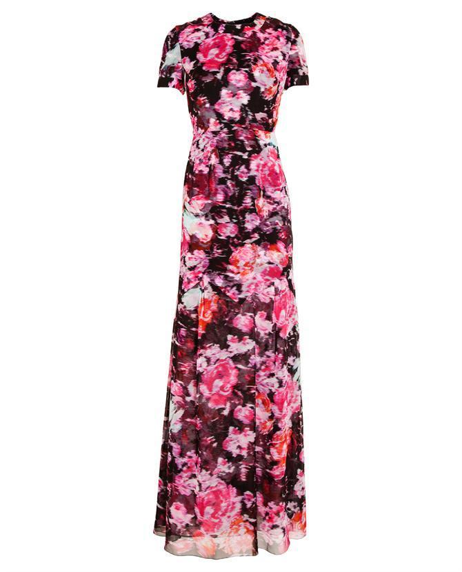 Erdem Dorinda floral printed silk gown