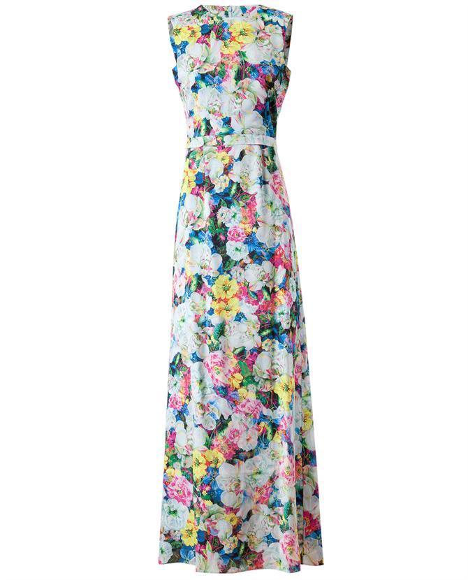 Erdem floral printed silk gown