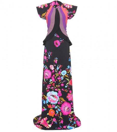 Etro floral print floor-length gown