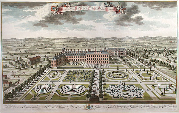 Kensington Palace from the south by Jan Kip - plate made for Britannia Illustrata 1707-08