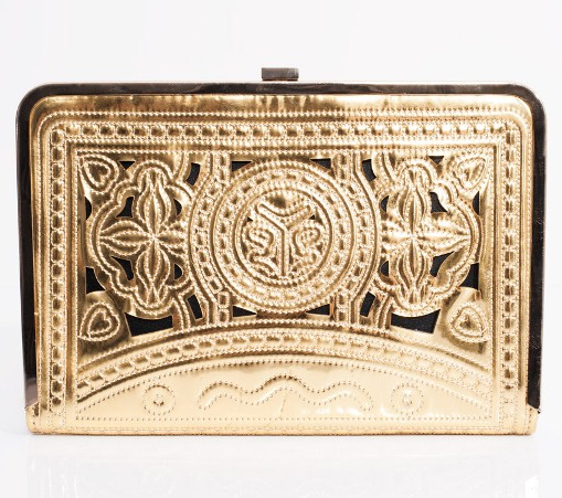 MIDAS - Gold Quilted Clutch Bag