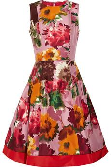 Oscar de la Renta floral-print silk-twill dress