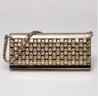 yeswalker Gold jeweled clutch