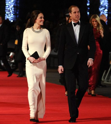 Kate Middleton in Roland Mouret and Zara