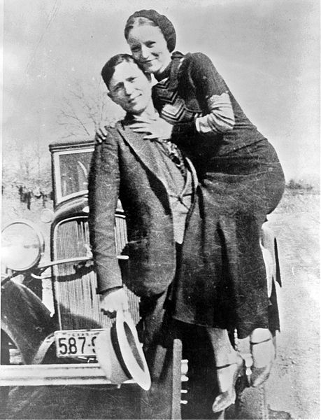 Bonnie Parker and Clyde Barrow in March 1933