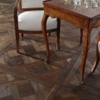 Wooden inlay flooring pattern