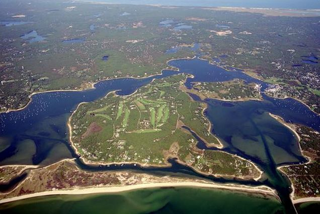 AERIAL MAP 17 Indian Trail Osterville Cape Cod - former Mellon property