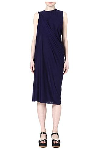 Grecian dresses - Acne draped blue jersey dress