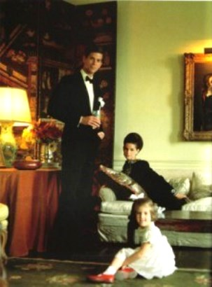 Annette and Samuel Reed with Beatrice Reed, before Annette became Mrs de la Renta