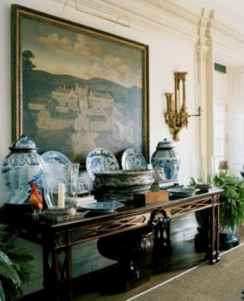 FASHION DESIGNERS AT HOME: Annette and Oscar de la Rentain their Connecticut home