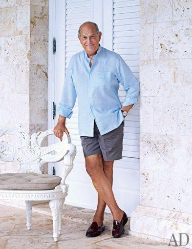 Designer Oscar de la Renta in the Dominican Republic
