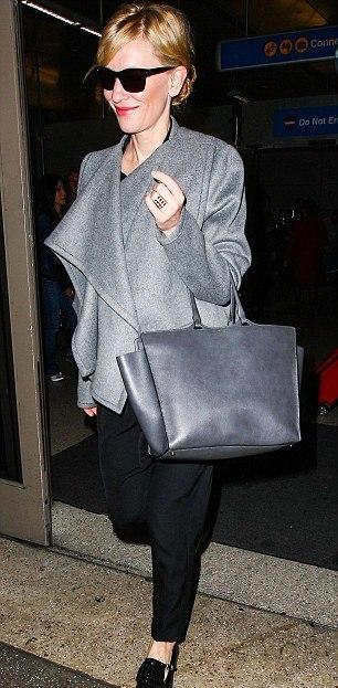 Oscar winning style: Cate Blanchett arrives in LA for the Oscars