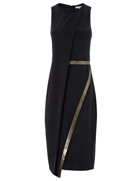 Greek goddess style - Gabriele Colangelo black jersey draped dress