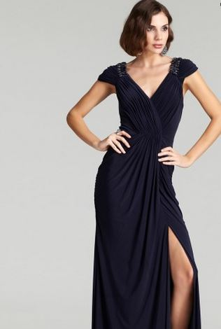 Greek goddess - evening gowns - Heidi split dress