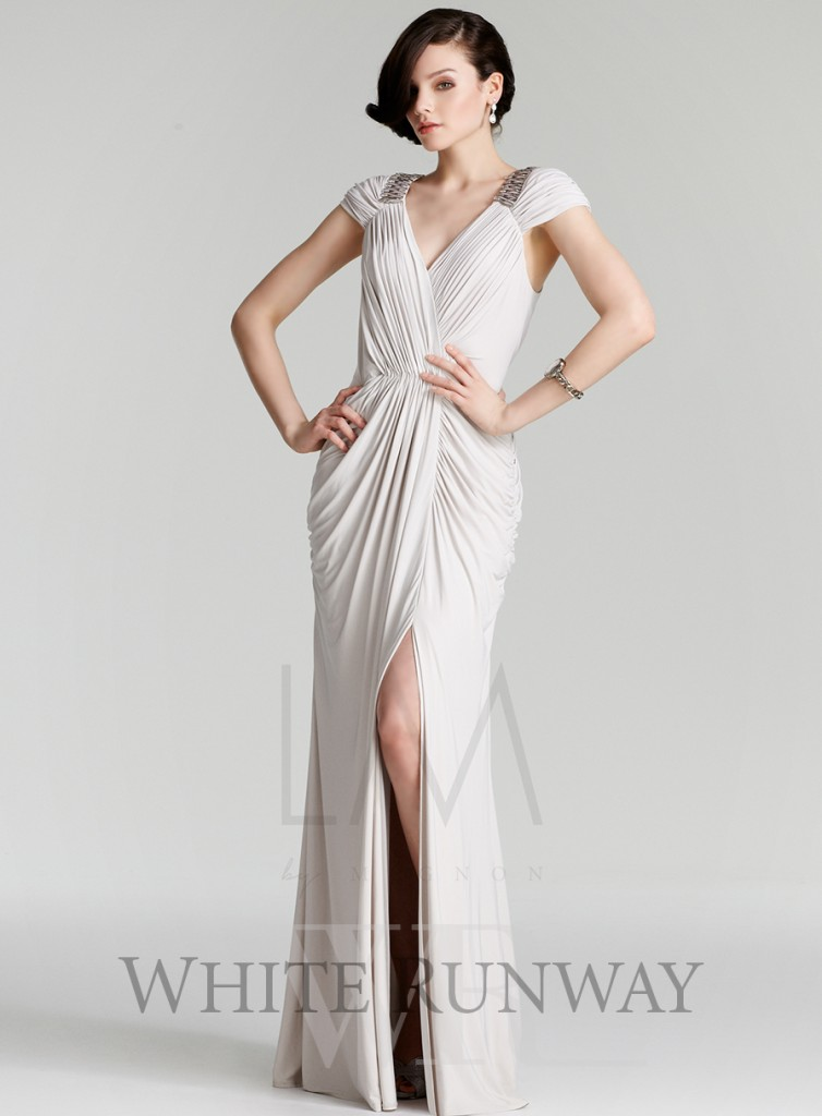 Greek goddess fashion - Heidi split dress - white grecian style