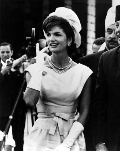 Fashion icon Jackie Kennedy in 1962