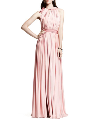 Lanvin Grecian liquid jersey gown in rose