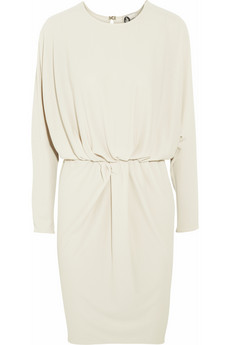 Lanvin white draped crepe dress