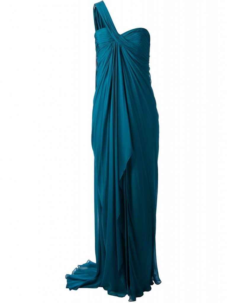 Evening gowns online - MARCHESA NOTTE grecian sleeveless gown