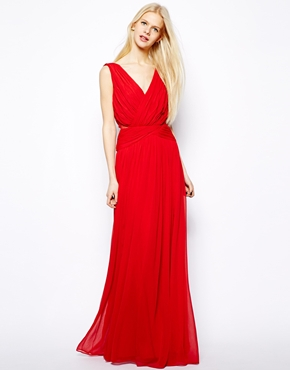 Red Mango Drape Grecian Maxi Dress
