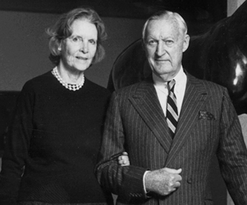"Rachel ""Bunny"" Mellon and husband Paul Mellon"
