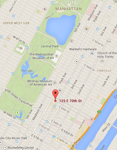 MAP: Mellon mansion address - 125 East 70th Street