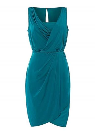 Greek goddess dress - Untold green Grecian drape dress