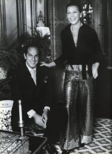 Oscar de la Renta and his first wife Françoise de Langlade, an editor-in-chief of French Vogue