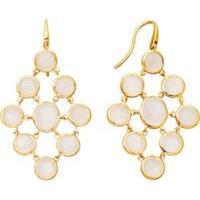 Resort style - Astley Clarke Moonstone chandeliers 18ct gold vermeil earrings in white