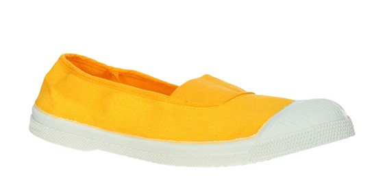 Resort style - Bensimon trainers in yellow and white