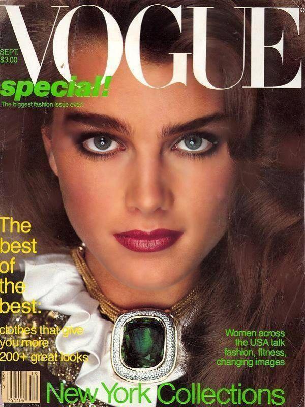 Brooke Shields in Oscar de la Renta for Vogue September 1981
