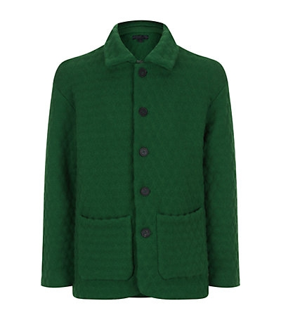 PRINCESS STYLE: Burberry green diamond quilt artist jacket