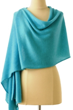 Resort style - Cashmere scarf - Robins eggs blue