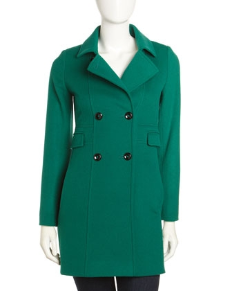 Cinzia Rocca Due four-pocket green coat