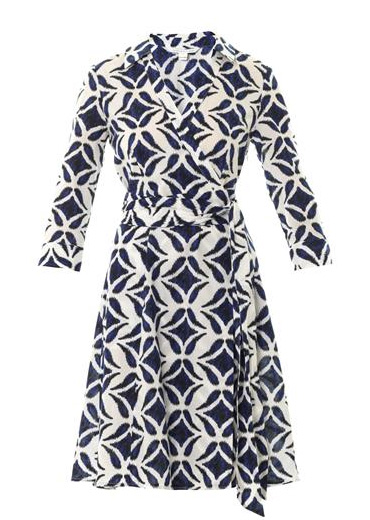 Vintage Dvf Geometric Wrap Dress white geometric wrap dress
