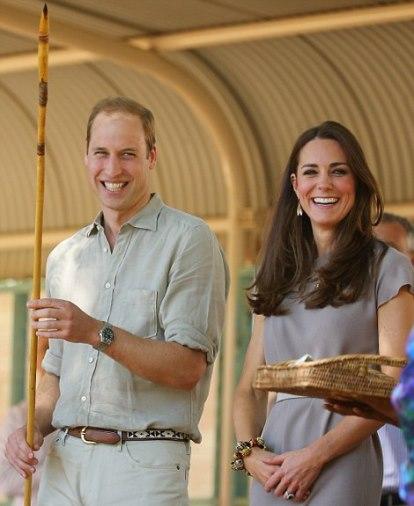 The Duke and Duchess of Cambridge in Uluru on their royal tour of Australia