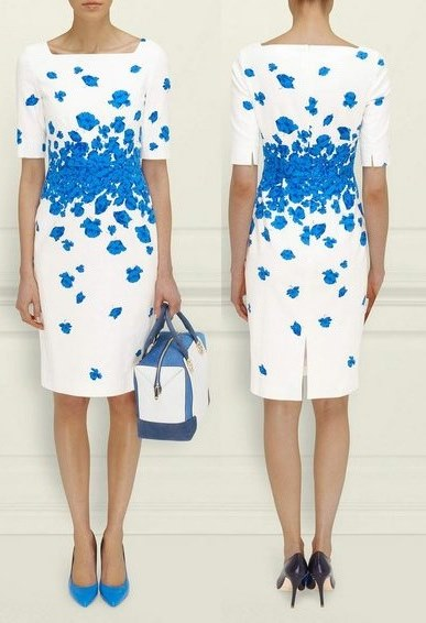"Kate's blue and white LK Bennett ""poppy"" dress in Brisbane"