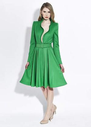 ROYAL STYLE: Evelyn green coatdress by Catherine Walker