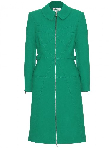 SHOP THIS LOOK: Erdem green Allie coat worn by Catherine Duchess of Cambridge in New Zealand