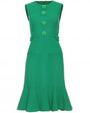 KATE MIDDLETON DRESS STYLE: Erdem green Kelis wool crepe dres