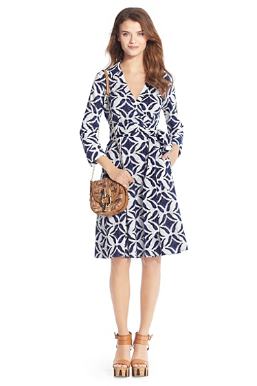 Dvf Pattern Wrap Dress Kate Middleton Kate Middleton blue geometic