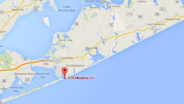 MAP 576 Meadow Lane Southampton NY 11968 - Nancy Meyers - Somethings Gotta Give house